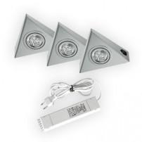 Astra halogeen keukenverlichting set van: 3 - 20 Watt met schakelaar