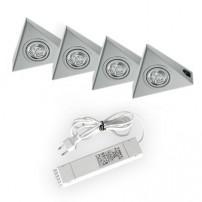 Astra halogeen keukenverlichting set van: 4 - 20 Watt met schakelaar
