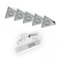 Astra halogeen keukenverlichting set van: 5 - 20 Watt met schakelaar
