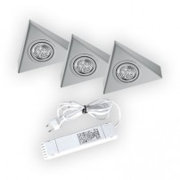 Triangle halogeen keukenverlichting set van: 3 - 20 Watt